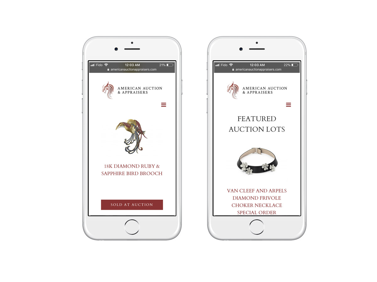 American Auctions Appraisers website phone