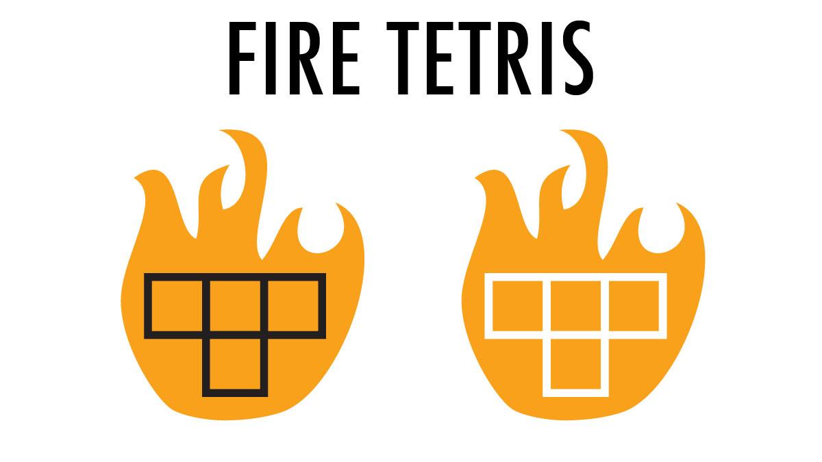 Fire Tetris Branding Design