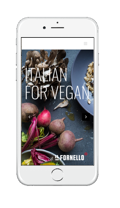 Italian for Vegan website phone