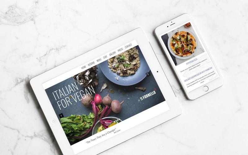 Italian for Vegan website tablet